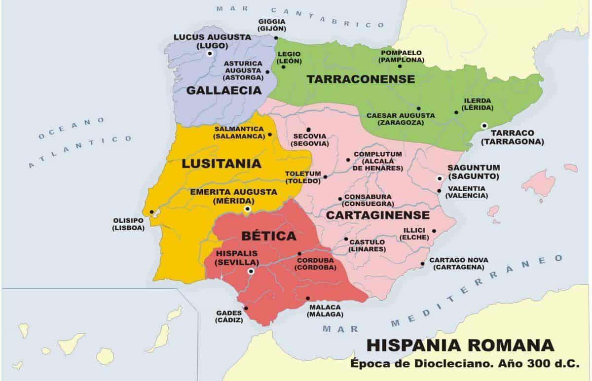 HISPANIA-ROMANA-DIVIDIDA-EN-5-PROVINCIAS