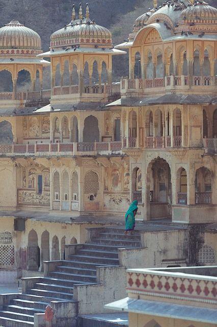 Galwar Bagh - Monkey tempel in Jaipur.