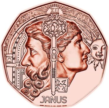 el_dios_Jano_en_moneda_austriaca_2021