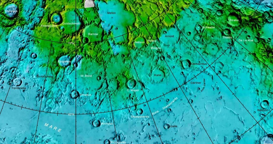 Localización del asteroide Strabo (Estrabón) (parte superior derecha de l planisferio celeste