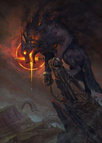 los-mitos-nórdicos-Fenrir-lobo-hijo-de-Loki-Ragnarök-marcosplanet-Thot-Odin