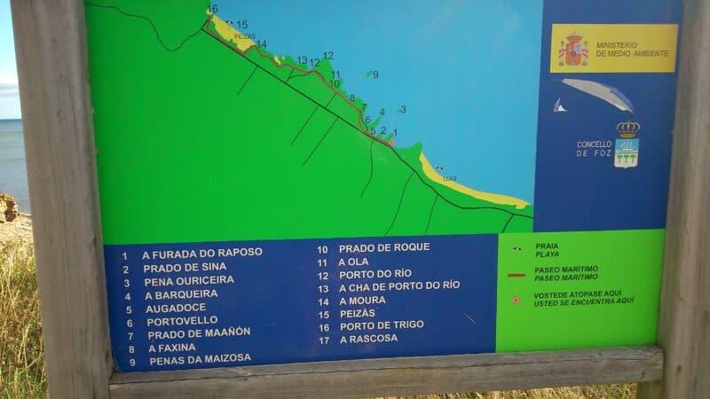 mapas-de-recorrido-Rapadoira-Foz-Peizas-Pampillosa-playas